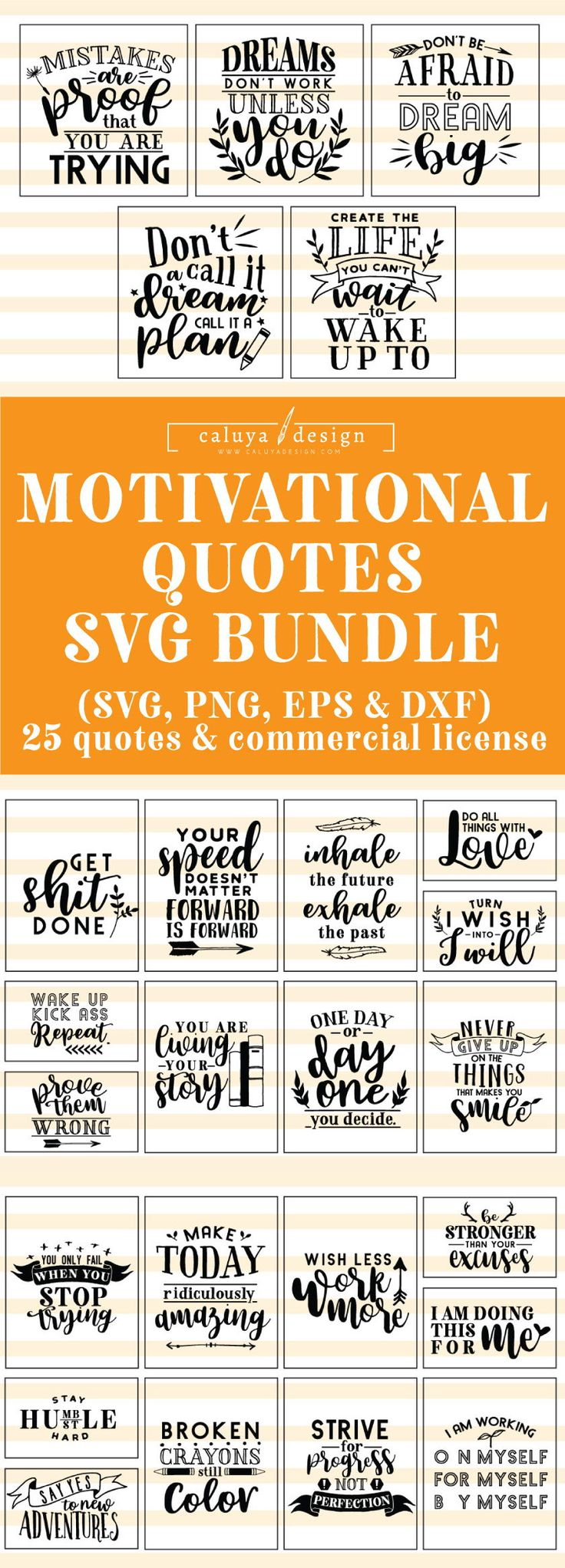 Motivational Quotes SVG Minimize File Bundle Deal | Minimize File for Cricut & Cameo Silhouette | Quote DXF Cu