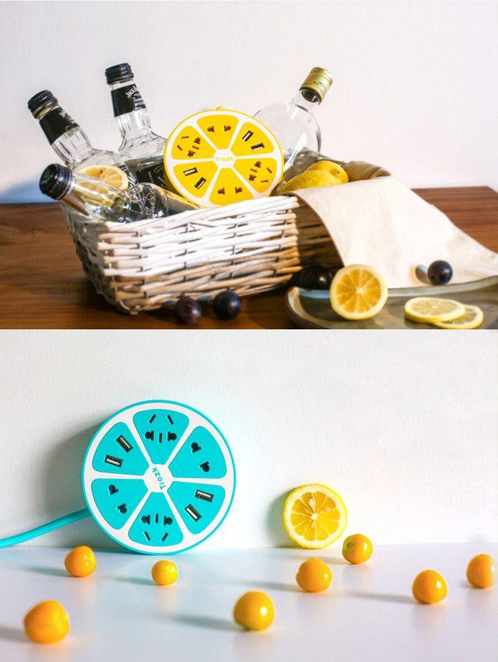 Trozk Lemon Shape Charging Power Strip #home gadget#Home Appliances