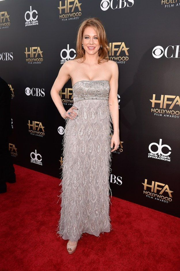 Maitland Ward is Vanessa's pick from the 2014 Hollywood Film Awards Red Carpet. Bet that dress looks better in person than in the photo.