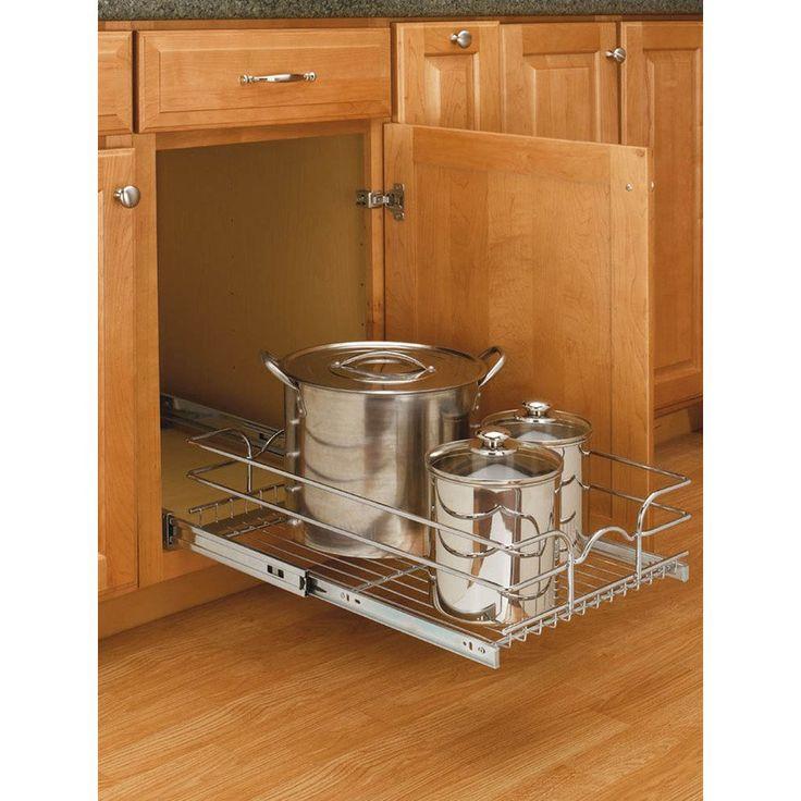 A Shelf 58 15c 5 Chrome Pull Out Basket Canada Shelves