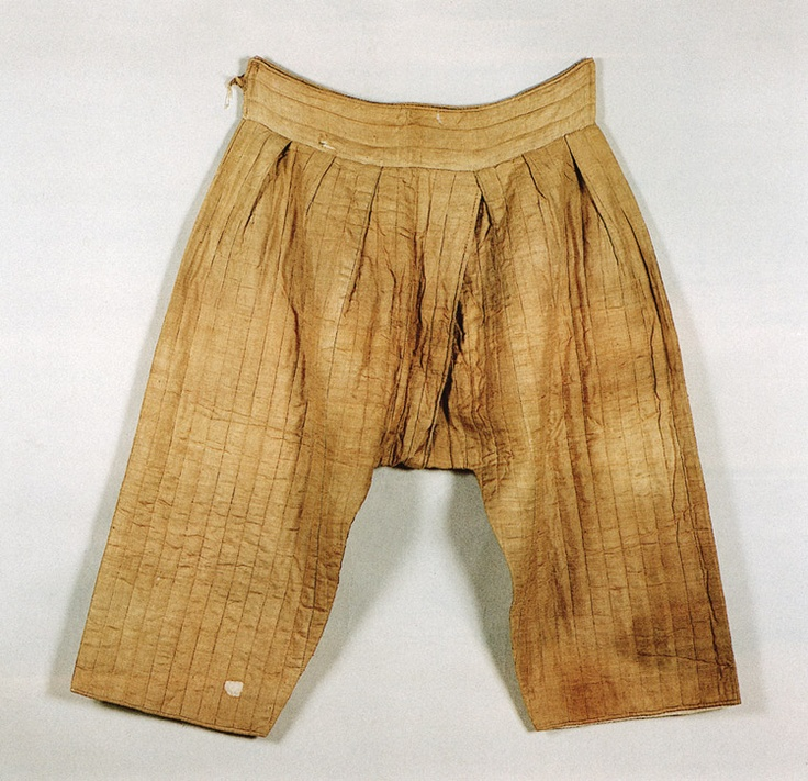 Myeongjunubisokgot/Quilted silk under-pants from the tomb of Kim Wi (mid-Joseon dynasty.)   Important Folklore Material 118-6