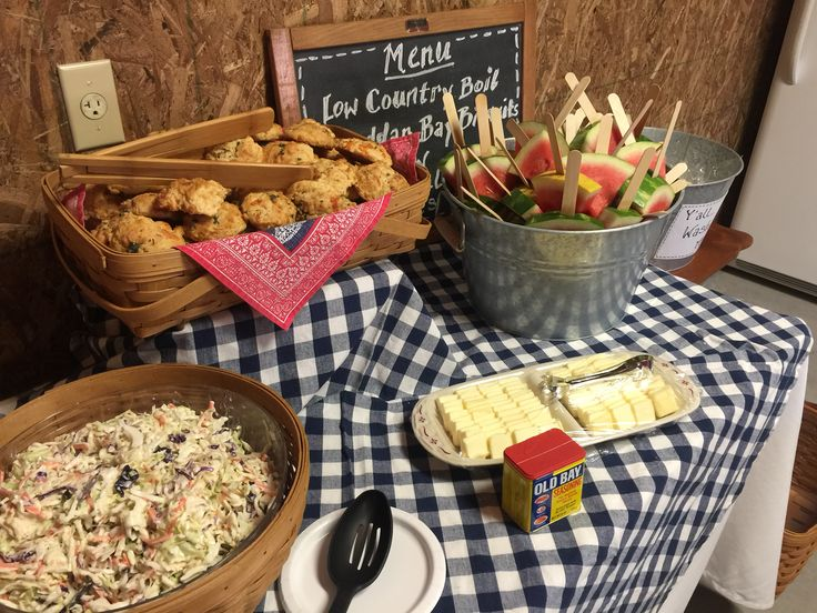 Cheddar Biscuits, Watermelon Pops and Cole Slaw for the Low Country Boil party