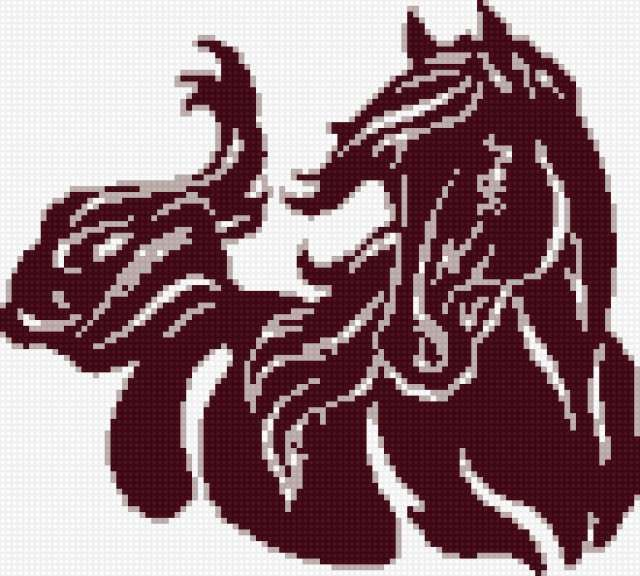 Sticken Pferde - cross stitch horses - free pattern Gallery.ru / Foto # 24 - schöne Pferde - Irisha-ira