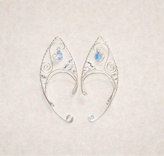 elf ears diy   Elf Ear Cuffs Cystal Heart Bonus Gift Box by ...   Jewelry DIY