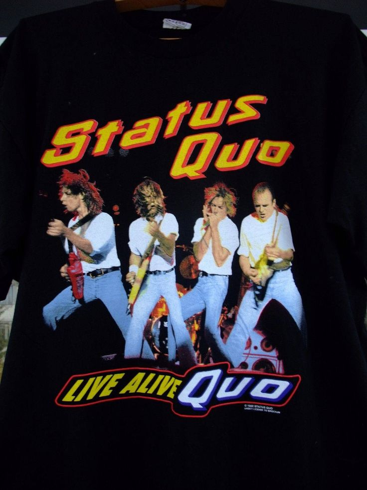 Status Quo band Live ALIVE QUO 1992 European tour shirt XL by shirtsforeveryone17 on Etsy