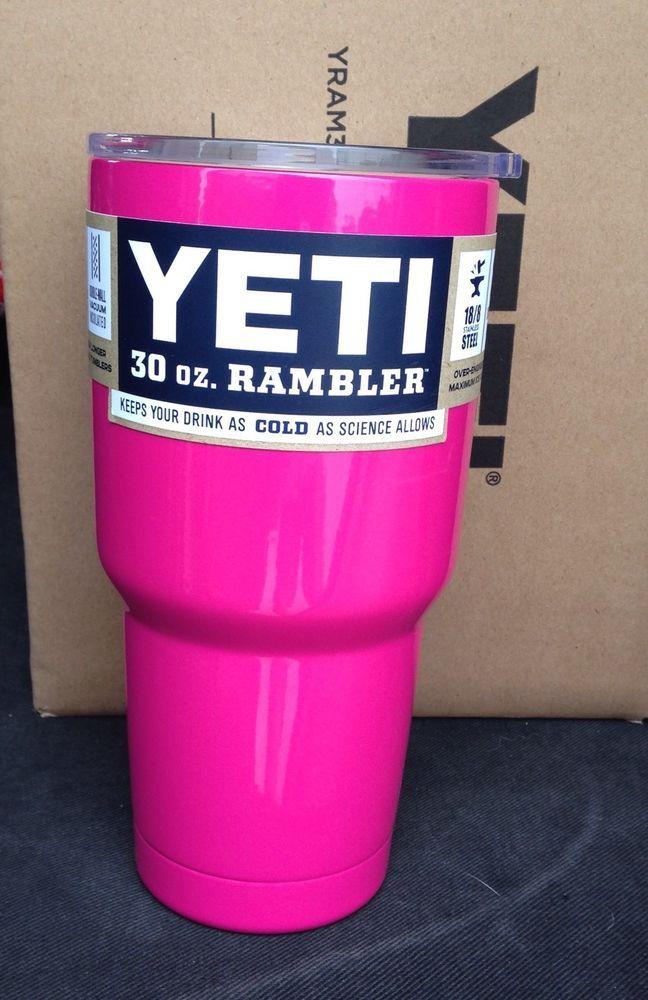 Last one Available !!!! #YETI Rambler Tumbler BARBIE PINK 30oz Stainless Steel Mug Free Shipping #Yeti