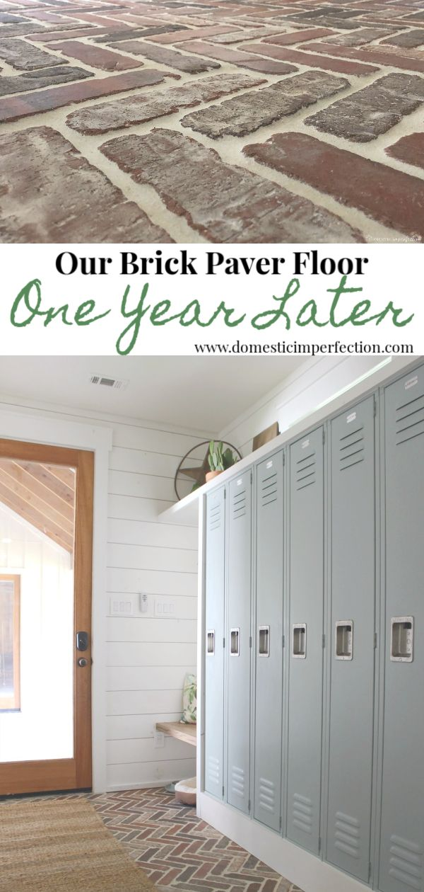 A Review of our Brick Flooring – One Year Later