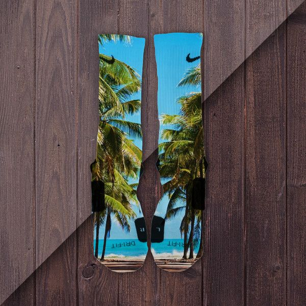 South Beach Custom Nike Elite Socks Miami Palm Trees – Fresh Elites
