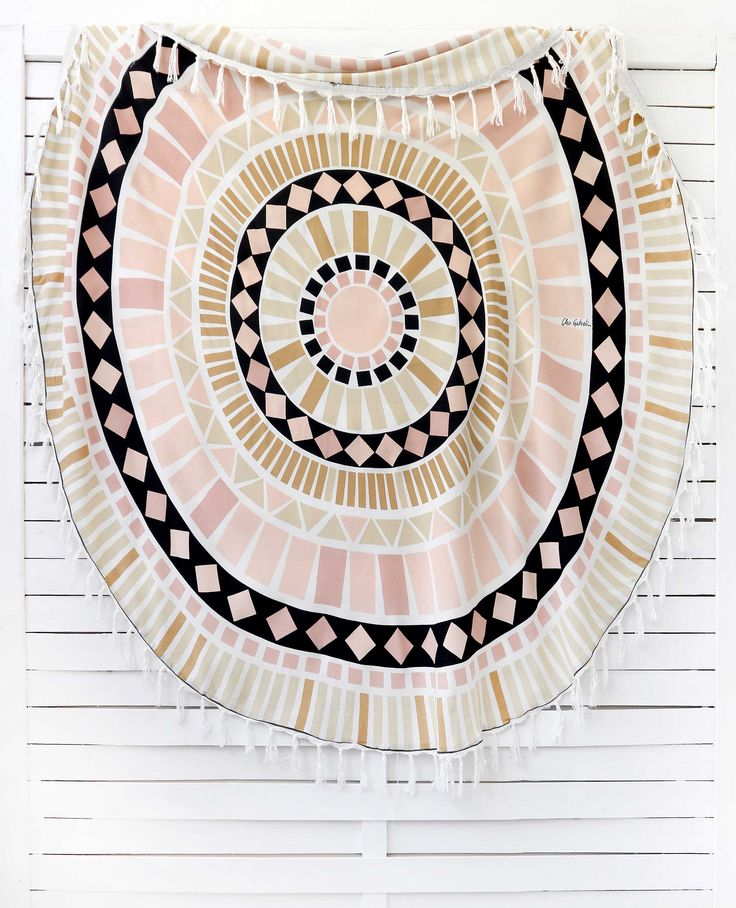 MOSAIC circular pareo item code: #0376  color: multi ** http://www.cleogatzeli.com/shop/plain-pareo/mosaic-circular-pareo/
