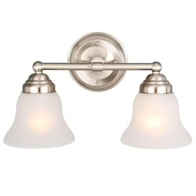 Hampton Bay 2 Light Brushed Nickel Vanity Light Home Home Depot And Bays
