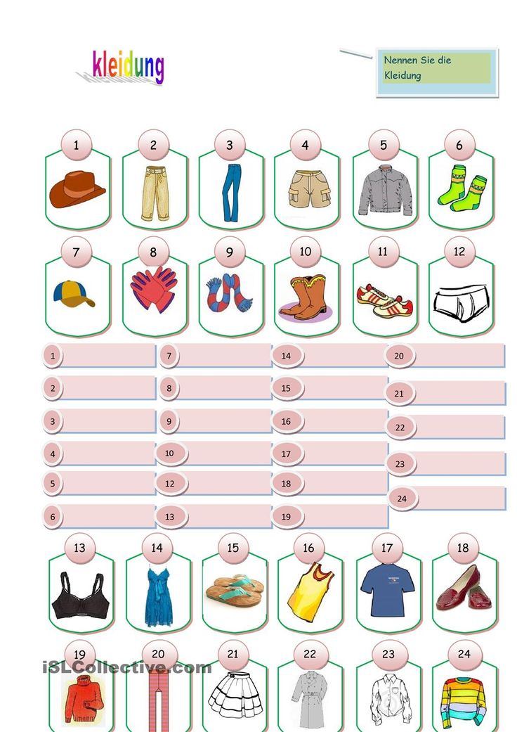 Clothes: Clothing Words in Many Languages ...