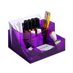 Really Useful Desk Accessories Pencil Cup Organizer, Translucent Purple
