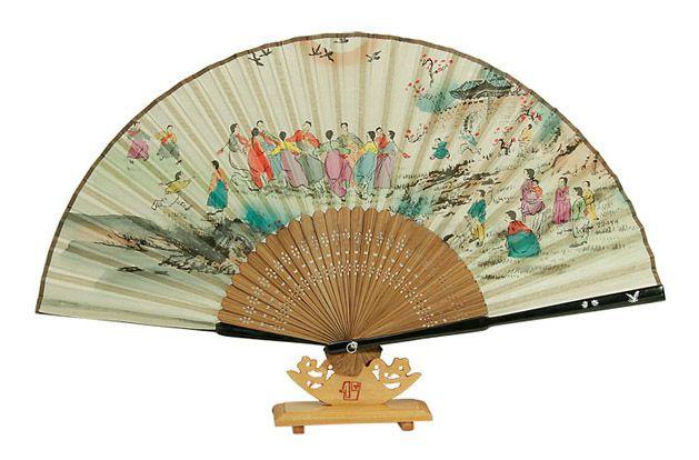 Traditional Folding Fan - Gangkang Suwollae (Korea Circle Dance).