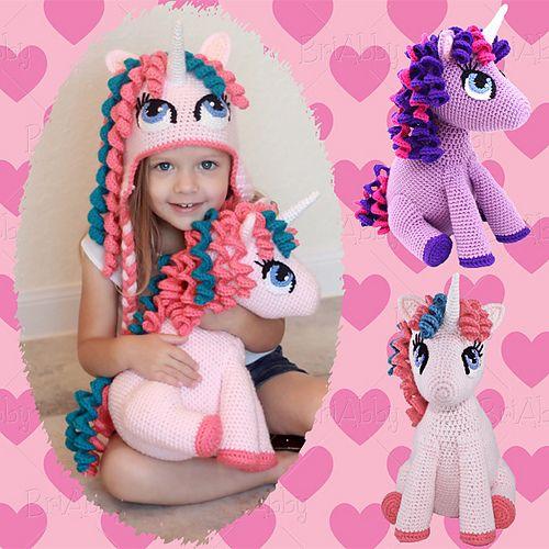 Ravelry: Stuffed Amigurumi Unicorn / Pony Toy pattern by Joni Memmott / BriAbby