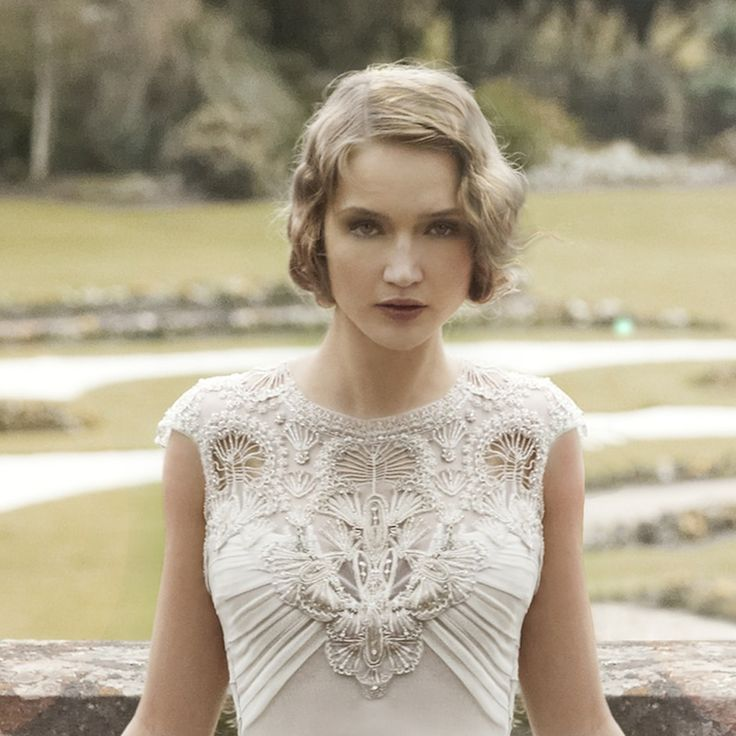 Art Deco wedding dress by Gwendolynne
