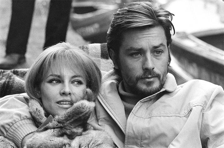 Alain Delon et Nathalie Delon à Venise - Années 60 © Photo sous Copyright