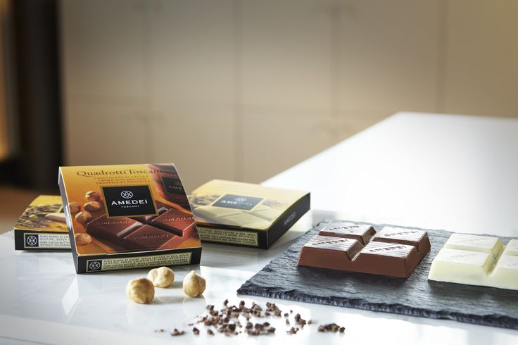 Amedei's celebrated know-how, when it comes to combining ingredients, textures, flavors and aroma, runs free in these exquisite filled #chocolate #squares.Try the four different #flavor #combinations.
