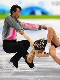 Ouch. Cool. Bendy.  Paired.  #iceskating #dance