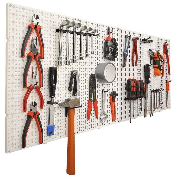 panneaux muraux de rangement pour outils crochets int rieur home pinterest panneau. Black Bedroom Furniture Sets. Home Design Ideas