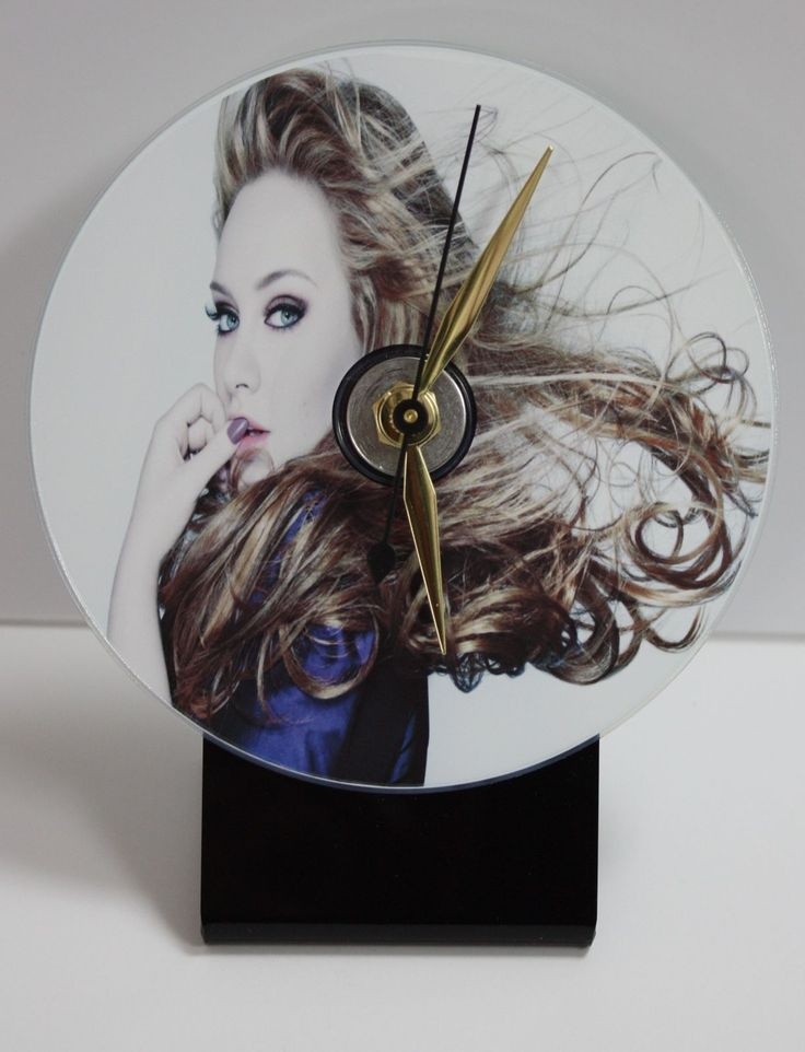 Adele Picture Cd Desk Clock With Black Acrylic Base