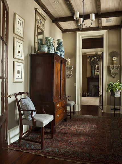 Elegant and classy but lived-in. Antique but not sterile. Ideally would be a…