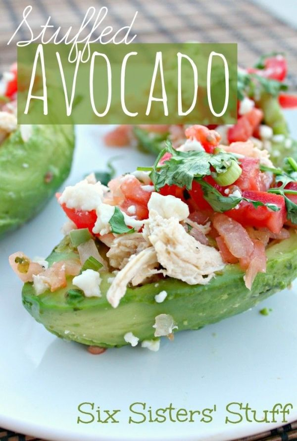 Stuffed Avocado #lowcarb #protein