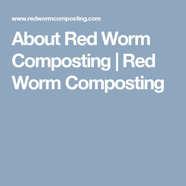 About Red Worm Composting | Red Worm Composting