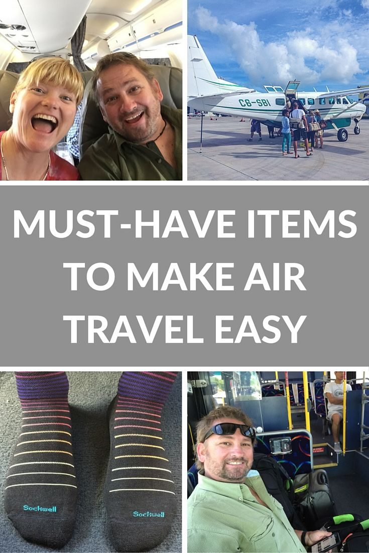 Must-Have Items to Make Air Travel Easy | There are ways to make air travel more comfortable and it all starts with having the right gear. | The Planet D Adventure Travel Blog