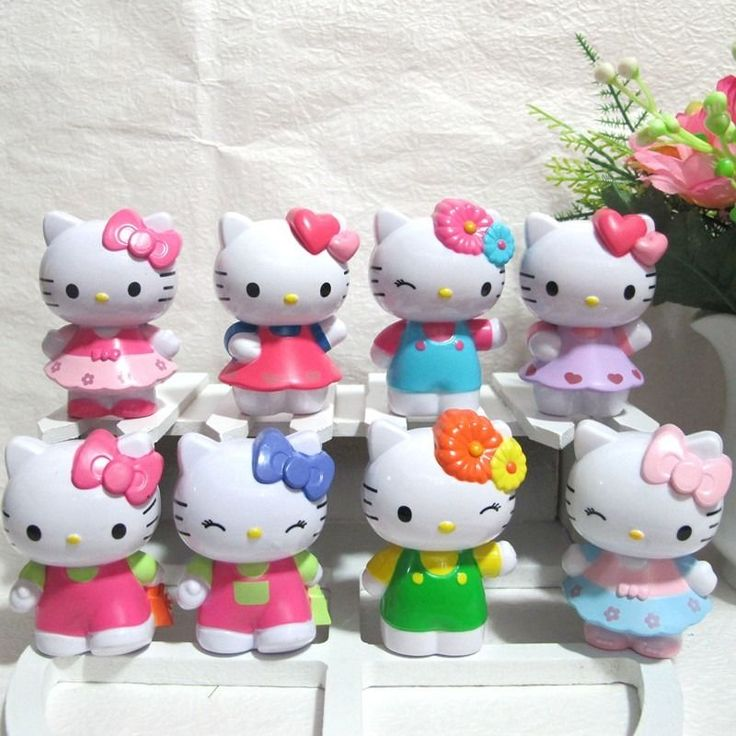 Hello Kitty Figure 8pcs/Lot | Collectibles, Animation Art & Characters, Animation Characters | eBay!