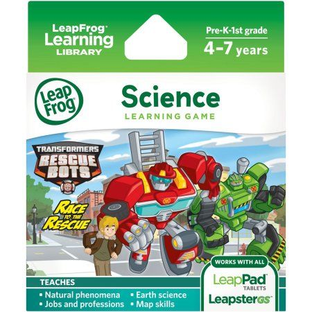 LeapFrog Explorer Learning Game: Hasbro Transformers Rescue Bots Race to the Rescue, Multicolor