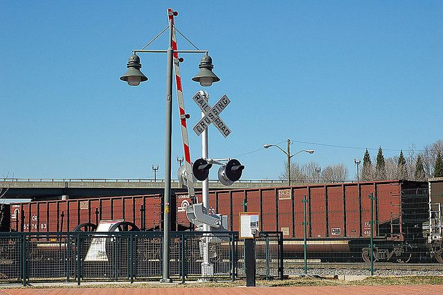 vintage sings in roanoke virginia | Old Railroad Crossing lights in downtown Roanoke, Virginia - a photo ...