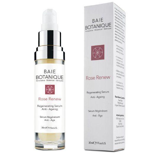 Baie Botanique - Anti-Aging Gesichtsserum - mit 10% Botanischer Hyaluronsäure - Rosenwasser, Rose Absolue, Hagebuttenkernöl, Glykolsäure.