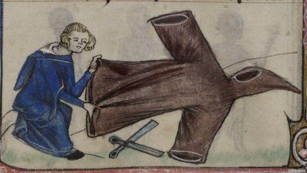 Наши коллеги в прошлых веках =) •15th century tailors in the Mendel Hausbuch: Cuncz Dorenberger, 1443