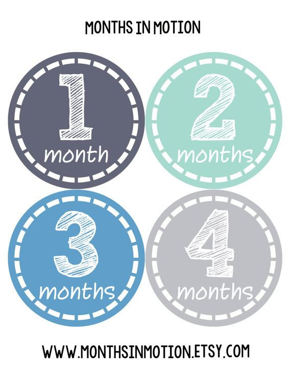 Newborn Just Born Baby Boy Month Sticker Monthly by MonthsinMotion