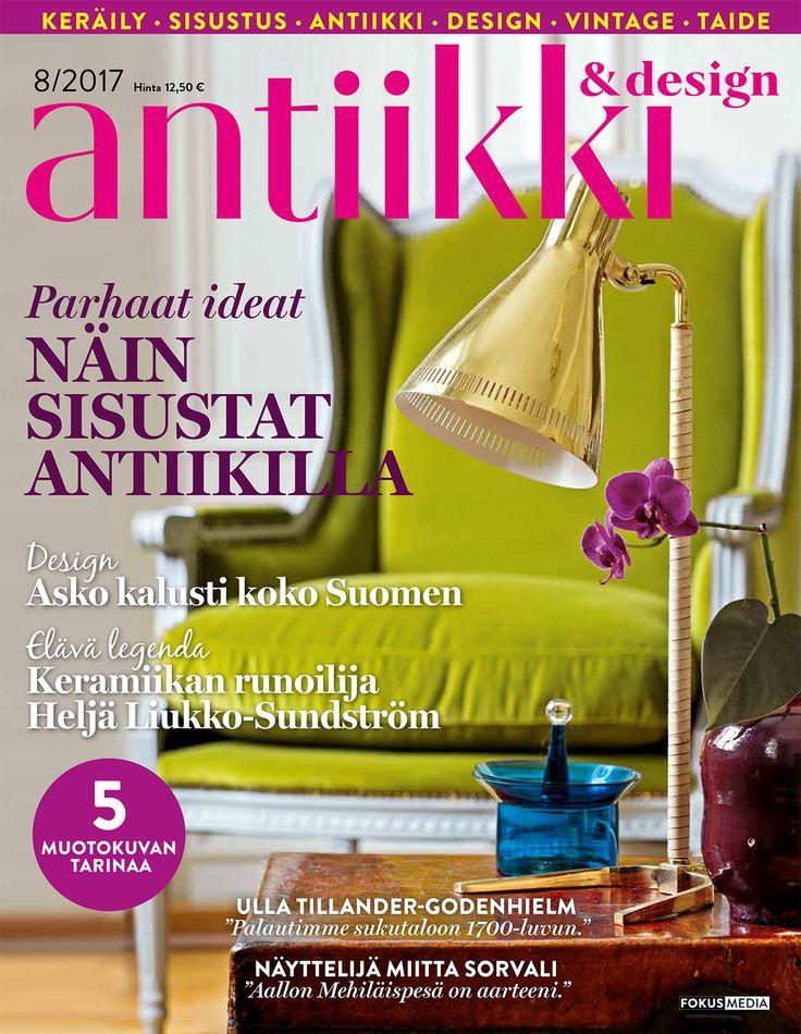 Antiikki & Design 8/2017. Tyyli Irene Wichmann, kuva Pia Inberg.