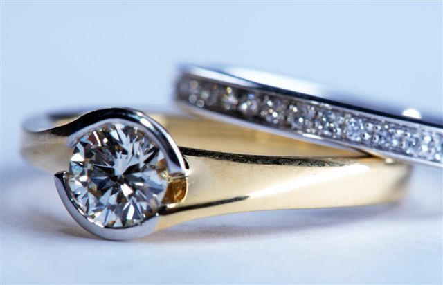 18ct yellow gold and platinum with diamonds