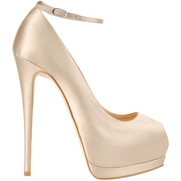 Giuseppe Zanotti Pump Women (2.695 RON) ❤ liked on Polyvore featuring shoes, pumps, heels, sapatos, zapatos, peep toe platform shoes, champagne peep toe pumps, heels & pumps, peep toe platform pumps and high heel shoes