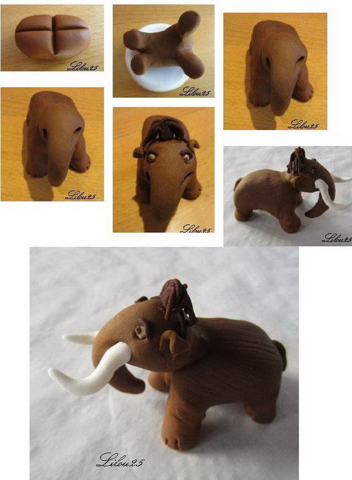 Manny - Ice Age cake topper tutorial