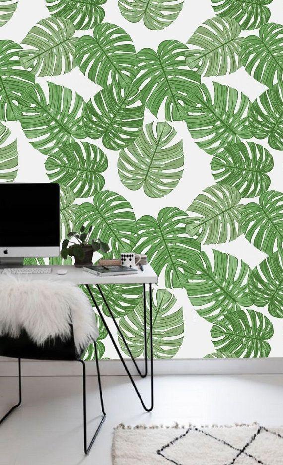 self adhesive wallpaper removable wallpaper tropical wall