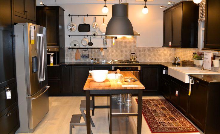 laxarby kitchen white google search kitchen pinterest kitchen white kitchens and brown. Black Bedroom Furniture Sets. Home Design Ideas