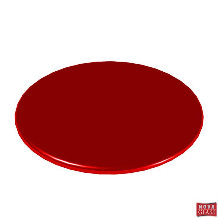 Περιστρεφόμενη βάση με κόκκινο κρύσταλλο Φ30 Κωδ. BG4476R | Nova Glass e-shop