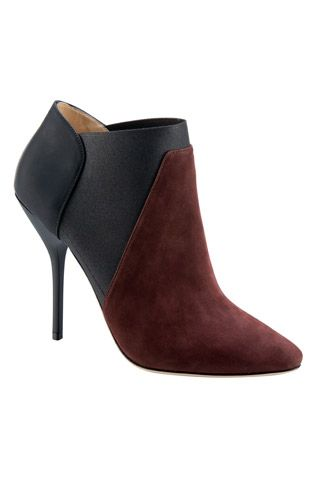 Jimmy Choo Burgundy and Black Ankle Boots Fall 2014