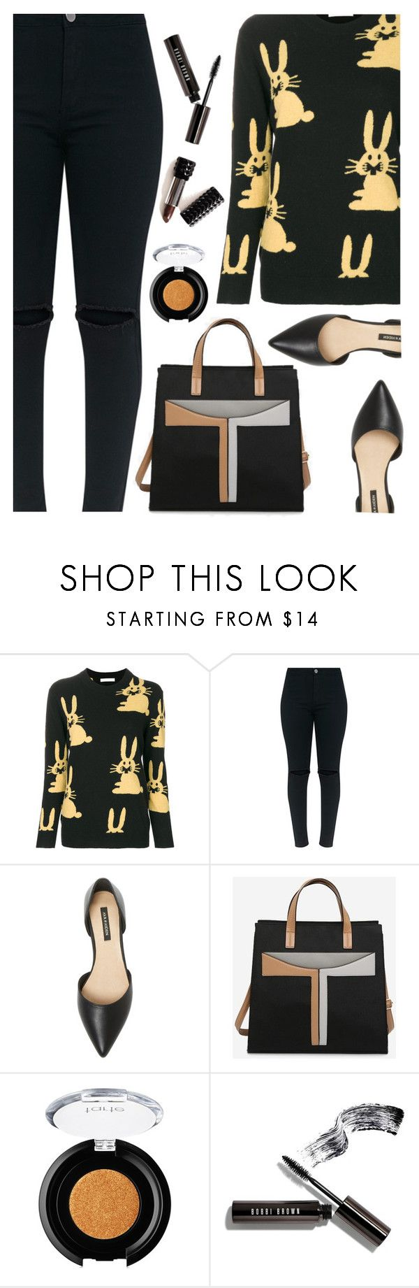 """""""black and whimsy"""" by juliehooper ❤ liked on Polyvore featuring Peter Jensen, Ava & Aiden, tarte, Kat Von D, Bobbi Brown Cosmetics, polyvoreeditorial and blackandwhimsy"""