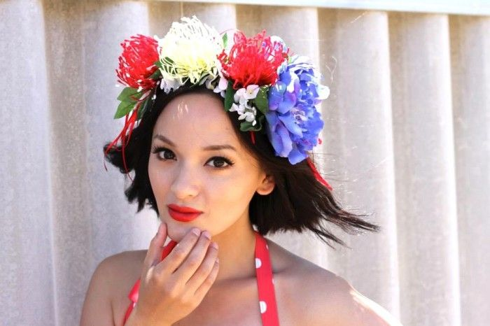 DIY Australia Day Floral Headband