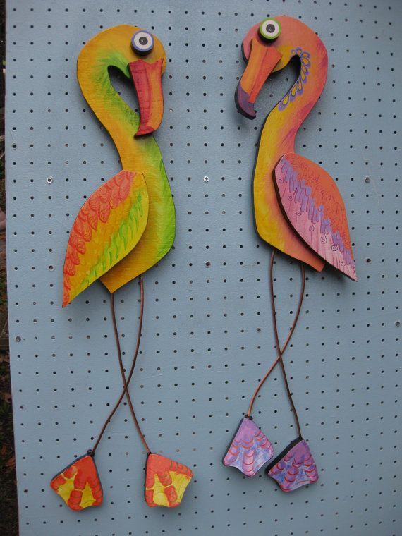 Dipinto a mano di uccello acquatico legno verniciato di mousatplay