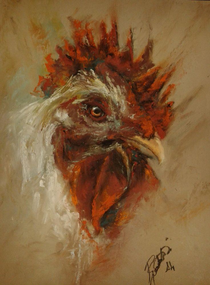 Il gallo - Pastel Facebook William Rambaldi e l'arte del pastello