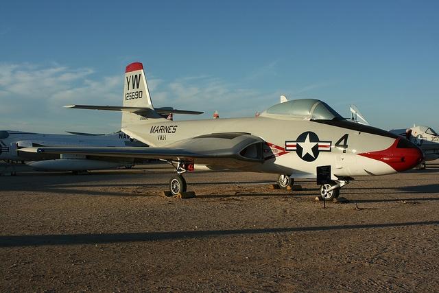 McDonnell F2H2P Banshee flickr plane 1950s Retro
