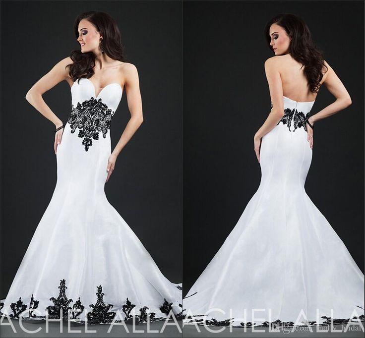 White cream evening dresses