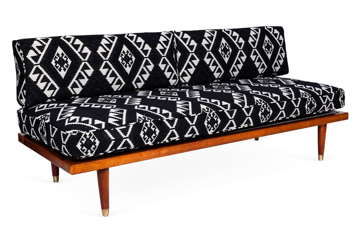 Ideal for the guest room. One Kings Lane - Emily Henderson - Tribal Print Midcentury Daybed