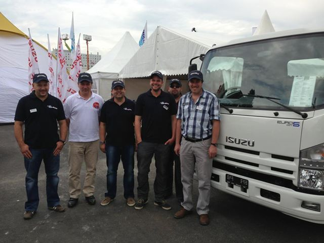 The ISUZU team at Suisse Public 2013